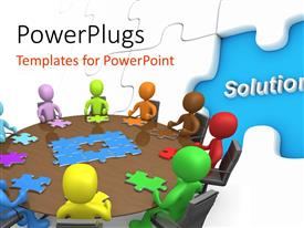 PowerPlugs: PowerPoint template with a lot of puzzles with a number of people