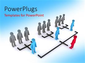 PowerPlugs: PowerPoint template with leadership concept with 3d organizational structure