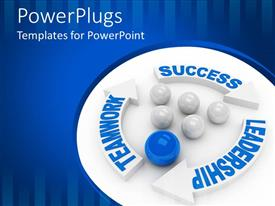 PowerPlugs: PowerPoint template with leadership concept computer generated depiction for special design