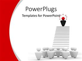 PowerPlugs: PowerPoint template with leadership metaphor idol example best worker on white background