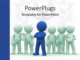 PowerPlugs: PowerPoint template with leadership and responsibility to build together a hardworking team on a white background