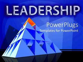 PowerPlugs: PowerPoint template with leadership theme with red triangle on top of pyramid, management, leader,  business