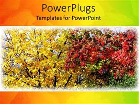 PowerPlugs: PowerPoint template with leaves changing colors in fall, autumn colors