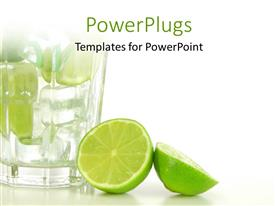 PowerPlugs: PowerPoint template with a lemon cut into half with a glass of lemonade