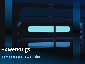 PowerPlugs: PowerPoint template with a light with a blackish background