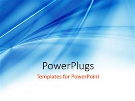 PowerPoint template displaying light blue background with gradient and blend, with white color