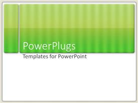 PowerPlugs: PowerPoint template with light and dark green striped bars over white background