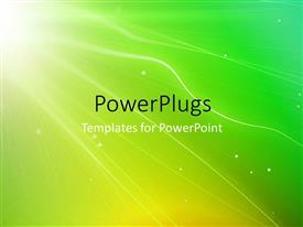 PowerPlugs: PowerPoint template with light glow from top left corner over green background