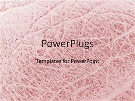 PowerPoint template displaying a light pink colored background having a rugged surface