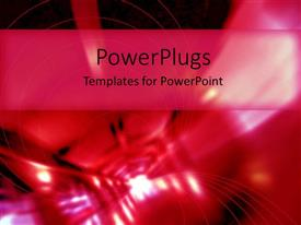 PowerPoint template displaying light at the of red and pink tunnel