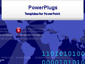 PowerPlugs: PowerPoint template with a live background with binary numbers