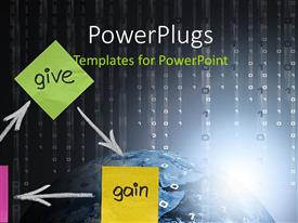 PowerPlugs: PowerPoint template with a number of sticky notes with light in background