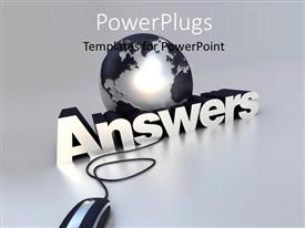 PowerPlugs: PowerPoint template with a lobe with the word answers