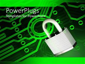 PowerPlugs: PowerPoint template with a lock for clamped over the green circuit