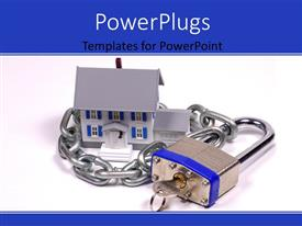 PowerPlugs: PowerPoint template with a lock and a house in the background