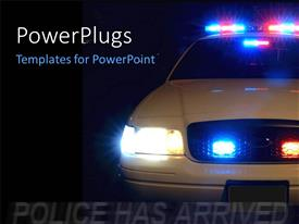 PowerPlugs: PowerPoint template with long exposure to capture the full array of police lights with black color