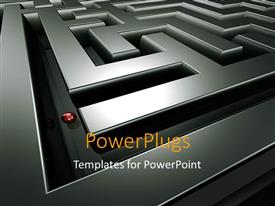 PowerPlugs: PowerPoint template with a difficult maze with a ball in it