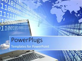 PowerPlugs: PowerPoint template with a lot of binary numbers and a map in the background