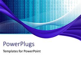 PowerPlugs: PowerPoint template with a lot of binary numbers with a number of lines