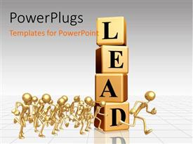 PowerPlugs: PowerPoint template with a lot of boxes creating the word lead