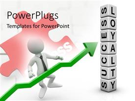 PowerPlugs: PowerPoint template with a lot of boxes with a figure and a puzzle piece