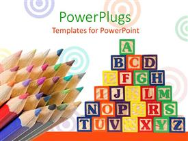 PowerPlugs: PowerPoint template with a lot of boxes with a number of color pencils