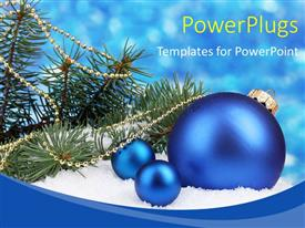 PowerPlugs: PowerPoint template with a lot of celebration balls with bluish background