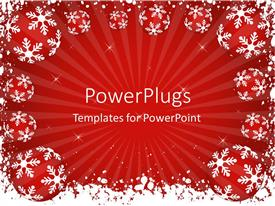 PowerPlugs: PowerPoint template with a lot of celebration stuff with reddish background