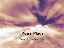 PowerPlugs: PowerPoint template with a lot of clouds in the background with a sentence