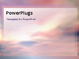 PowerPlugs: PowerPoint template with a lot of clouds with a bullet point and place for text