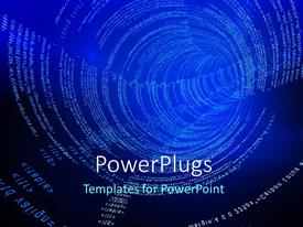 PowerPlugs: PowerPoint template with a lot of code in the form of spirals