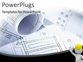 PowerPlugs: PowerPoint template with a lot of designs with a construction worker