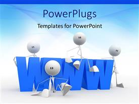 PowerPoint template displaying a lot of figures with bluish background and place for text