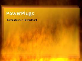PowerPlugs: PowerPoint template with a lot of fire in the background