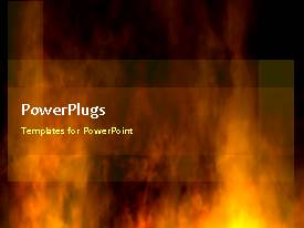 PowerPlugs: PowerPoint template with a lot of fire with a blackish background