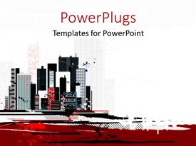 Urban living powerpoint templates crystalgraphics powerplugs powerpoint template with a lot of high colorful buildings over a white background toneelgroepblik