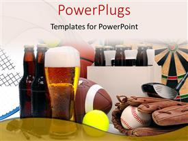 PowerPlugs: PowerPoint template with a lot of material related to sports with white background