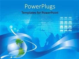 PowerPlugs: PowerPoint template with a lot of numbers with a map in the background
