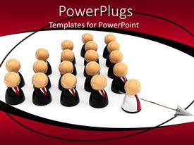 PowerPlugs: PowerPoint template with a lot of people following a leader
