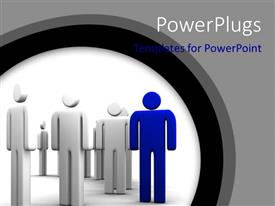 PowerPlugs: PowerPoint template with a lot of people with a special one