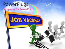 PowerPlugs: PowerPoint template with a lot of persons running for the job vacancy
