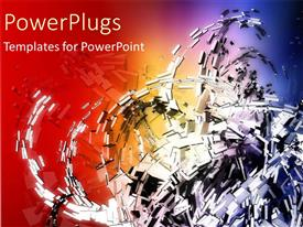 PowerPlugs: PowerPoint template with a lot of scrap in spiral shape