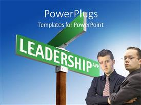 PowerPlugs: PowerPoint template with a lot of signs related to leadership