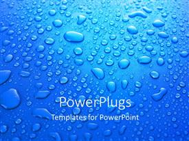 PowerPlugs: PowerPoint template with a lot of water droplets with bluish background