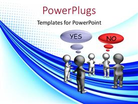 PowerPlugs: PowerPoint template with lots of 3D characters with text that spell out the words'yes' and 'no'