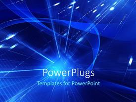 PowerPlugs: PowerPoint template with lots of binary numbers and a light and arcs