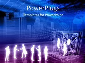 PowerPlugs: PowerPoint template with lots of business people's characters and binary numbers