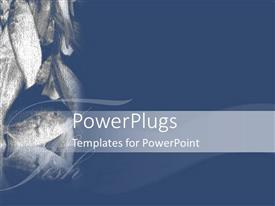PowerPlugs: PowerPoint template with lots of caught piled up fishes on a blue background