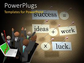 PowerPlugs: PowerPoint template with lots of characters with text that spell out different business related words