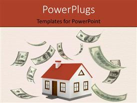PowerPlugs: PowerPoint template with lots of dollar bills flying around a small house